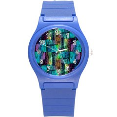 Abstract Square Wall Round Plastic Sport Watch (s) by Costasonlineshop