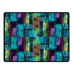 Abstract Square Wall Double Sided Fleece Blanket (small)  by Costasonlineshop