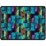 Abstract Square Wall Double Sided Fleece Blanket (Large)  80 x60 Blanket Back