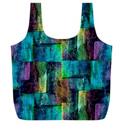 Abstract Square Wall Full Print Recycle Bags (l)  by Costasonlineshop