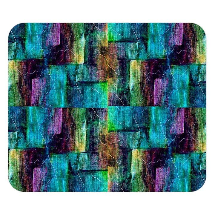 Abstract Square Wall Double Sided Flano Blanket (Small)
