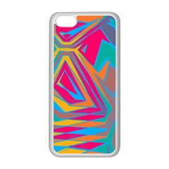 Distorted Shapes			apple Iphone 5c Seamless Case (white) by LalyLauraFLM