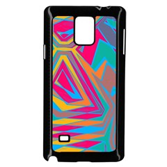 Distorted Shapes			samsung Galaxy Note 4 Case (black) by LalyLauraFLM
