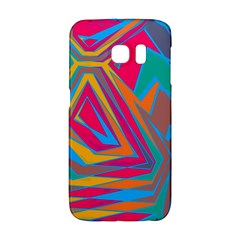 Distorted Shapes			samsung Galaxy S6 Edge Hardshell Case by LalyLauraFLM
