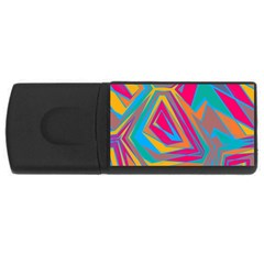 Distorted Shapes			usb Flash Drive Rectangular (4 Gb) by LalyLauraFLM
