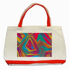 Distorted Shapes			classic Tote Bag (red) by LalyLauraFLM