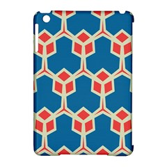 Orange Shapes On A Blue Background			apple Ipad Mini Hardshell Case (compatible With Smart Cover) by LalyLauraFLM