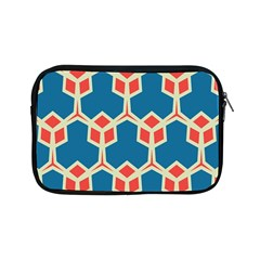 Orange Shapes On A Blue Background			apple Ipad Mini Zipper Case by LalyLauraFLM
