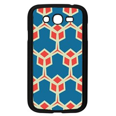 Orange Shapes On A Blue Background			samsung Galaxy Grand Duos I9082 Case (black) by LalyLauraFLM
