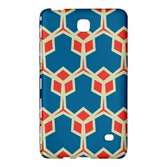Orange Shapes On A Blue Background			samsung Galaxy Tab 4 (7 ) Hardshell Case by LalyLauraFLM