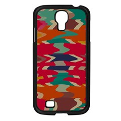 Retro Colors Distorted Shapes			samsung Galaxy S4 I9500/ I9505 Case (black) by LalyLauraFLM