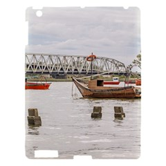 Boats At Santa Lucia River In Montevideo Uruguay Apple Ipad 3/4 Hardshell Case by dflcprints