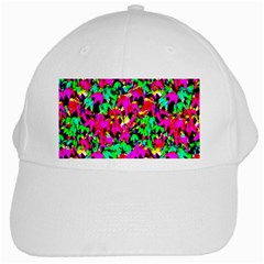Colorful Leaves White Cap by Costasonlineshop