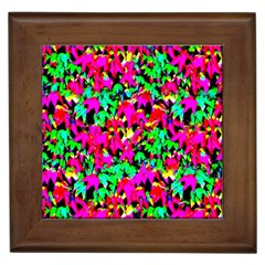 Colorful Leaves Framed Tiles by Costasonlineshop