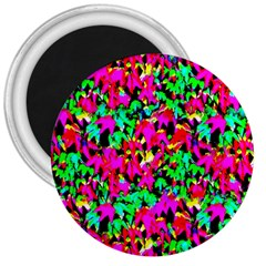 Colorful Leaves 3  Magnets by Costasonlineshop