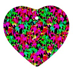 Colorful Leaves Ornament (heart)  by Costasonlineshop