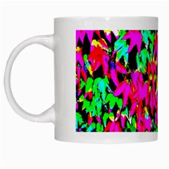 Colorful Leaves White Mugs by Costasonlineshop