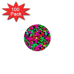 Colorful Leaves 1  Mini Buttons (100 Pack)  by Costasonlineshop