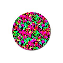 Colorful Leaves Magnet 3  (round) by Costasonlineshop