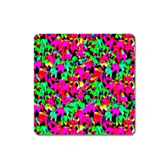 Colorful Leaves Square Magnet by Costasonlineshop