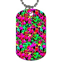 Colorful Leaves Dog Tag (one Side) by Costasonlineshop