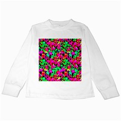 Colorful Leaves Kids Long Sleeve T Shirts by Costasonlineshop