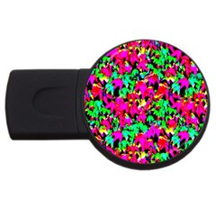 Colorful Leaves Usb Flash Drive Round (4 Gb)  by Costasonlineshop