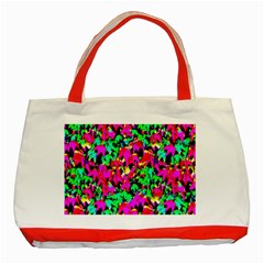 Colorful Leaves Classic Tote Bag (red)  by Costasonlineshop