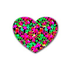 Colorful Leaves Heart Coaster (4 Pack)  by Costasonlineshop