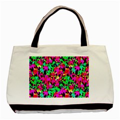 Colorful Leaves Basic Tote Bag (two Sides)  by Costasonlineshop