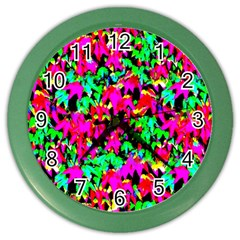 Colorful Leaves Color Wall Clocks by Costasonlineshop