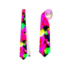 Colorful Leaves Neckties (one Side)  by Costasonlineshop