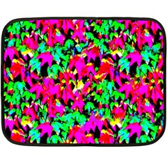 Colorful Leaves Double Sided Fleece Blanket (mini)  by Costasonlineshop