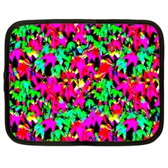 Colorful Leaves Netbook Case (xl)  by Costasonlineshop