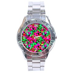 Colorful Leaves Stainless Steel Men s Watch by Costasonlineshop