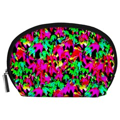 Colorful Leaves Accessory Pouches (large)  by Costasonlineshop