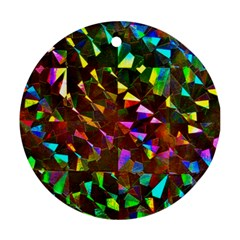 Cool Glitter Pattern Round Ornament (two Sides)  by Costasonlineshop