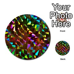 Cool Glitter Pattern Multi Purpose Cards (round)  by Costasonlineshop