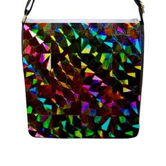 Cool Glitter Pattern Flap Messenger Bag (l)  by Costasonlineshop