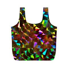 Cool Glitter Pattern Full Print Recycle Bags (m)  by Costasonlineshop