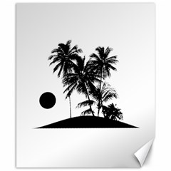 Tropical Scene Island Sunset Illustration Canvas 8  X 10  by dflcprints