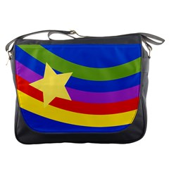 Rainbow Messenger Bag by Ellador