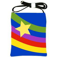 Rainbow And Star Shoulder Sling Bag by Ellador