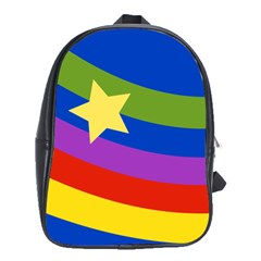 Rainbows School Bag (large) by Ellador