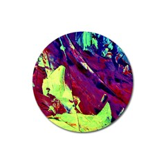 Abstract Painting Blue,yellow,red,green Magnet 3  (round) by Costasonlineshop