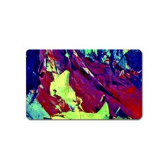 Abstract Painting Blue,yellow,red,green Magnet (name Card) by Costasonlineshop