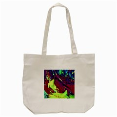 Abstract Painting Blue,yellow,red,green Tote Bag (cream)  by Costasonlineshop