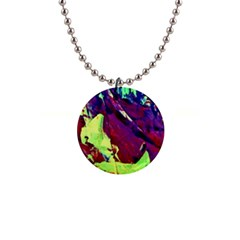 Abstract Painting Blue,yellow,red,green Button Necklaces by Costasonlineshop