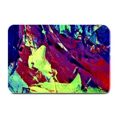 Abstract Painting Blue,yellow,red,green Plate Mats by Costasonlineshop