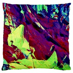 Abstract Painting Blue,yellow,red,green Large Cushion Cases (one Side)  by Costasonlineshop